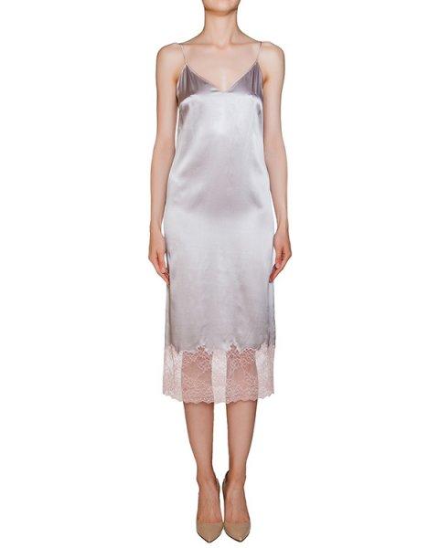 платье комбинация из плотного шелка, декорирована полупрозрачным кружевом артикул D08223043 марки Graviteight купить за 62500 руб.