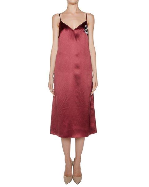 платье из гладкого шелка, дополнено шевроном артикул D0823395 марки Graviteight купить за 36000 руб.