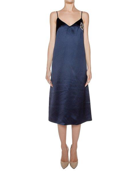 платье из гладкого шелка, дополнено шевроном артикул D0823501 марки Graviteight купить за 36000 руб.
