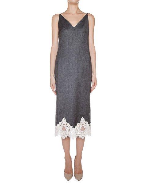 платье из тонкой шерсти, дополнено кружевом артикул D0891014 марки Graviteight купить за 75600 руб.