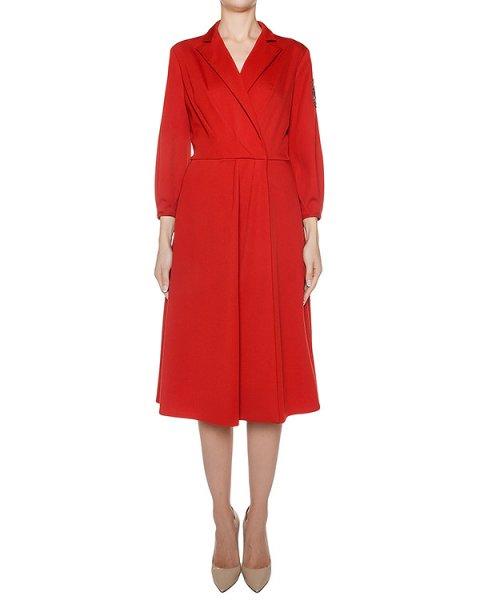 платье из мягкой шерсти, дополнено шевроном артикул D0941300 марки Graviteight купить за 87600 руб.