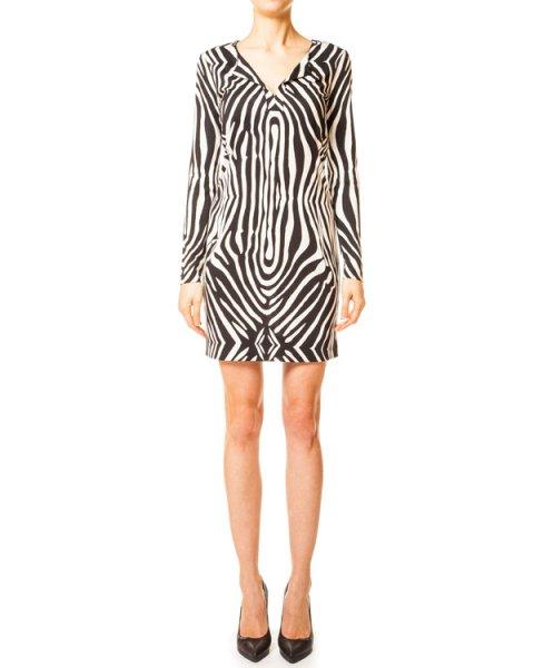 платье прямого кроя модель Reina, принт Tete Zebra артикул D2769001 марки DIANE von FURSTENBERG купить за 5300 руб.