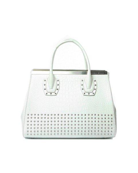 сумка из натуральной фактурной кожи, декорирована металлическими клепками артикул D2LBG01-C марки Thomas Wylde купить за 94400 руб.