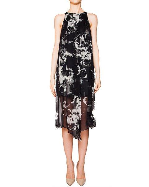 платье асимметричного кроя из легкого шелка с контрастным рисунком артикул D2PS504 марки Thomas Wylde купить за 27900 руб.