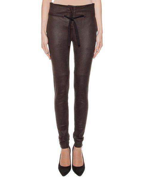 брюки из мягкой выделанной кожи артикул DL24F16 марки Isabel Benenato купить за 74800 руб.