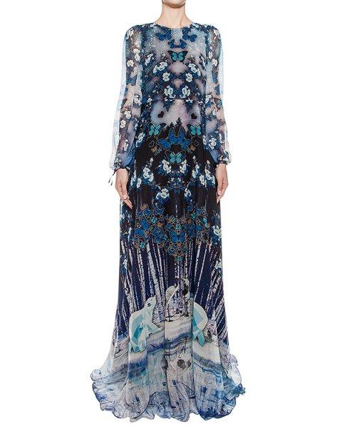 платье в пол из легкой ткани с с 3D рисунком артикул DR129 марки RARY купить за 80600 руб.
