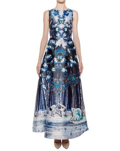 платье в пол из тонкого неопрена с 3D рисунком артикул DR133 марки RARY купить за 26300 руб.