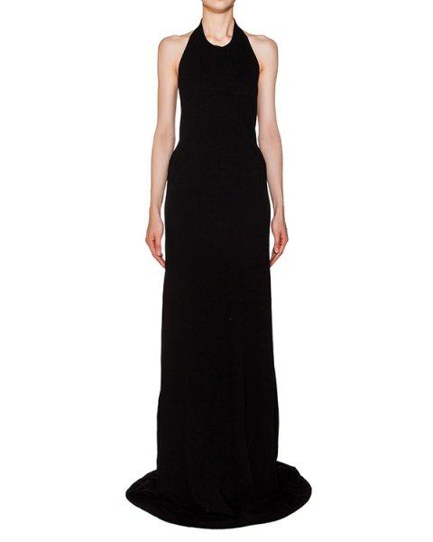 платье в пол с открытой спиной из хлопкового трикотажа артикул DS16S1512/R марки RICK OWENS DRKSHDW купить за 16400 руб.