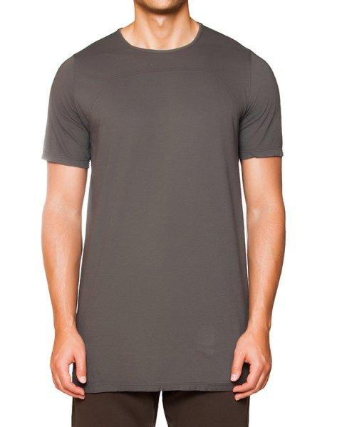 футболка удлиненного кроя из хлопка артикул DU15F5252 марки RICK OWENS DRKSHDW купить за 11000 руб.