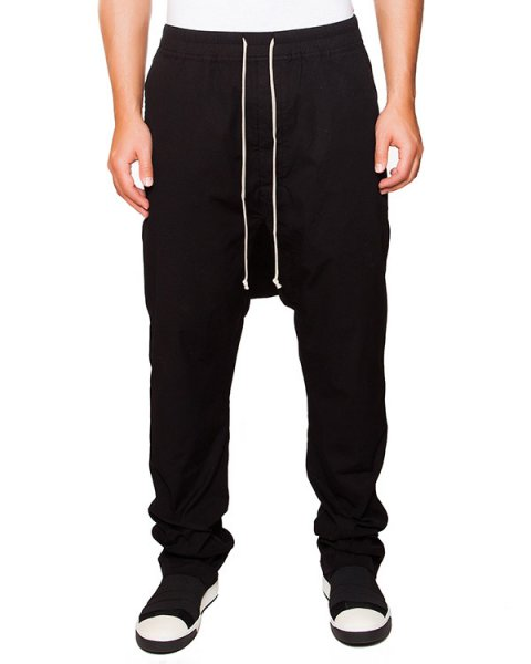 брюки галифе из плотной хлопковой ткани на завязках артикул DU15F5374 марки RICK OWENS DRKSHDW купить за 31500 руб.