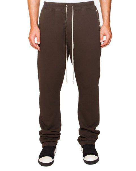 брюки из плотного хлопкового трикотажа на завязках артикул DU15F5392 марки RICK OWENS DRKSHDW купить за 30000 руб.