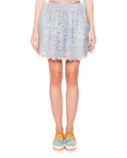 юбка из шелка с ажурным верхним слоем артикул E5ARJU марки Manoush купить за 12000 руб.