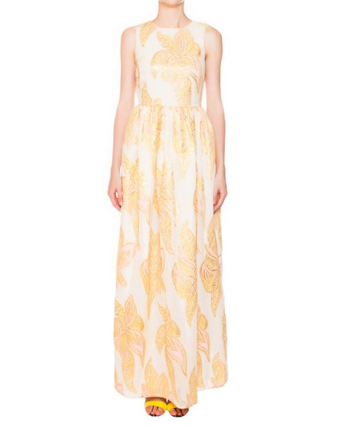 платье из шелка с вышивкой металлической нитью артикул E5JASO марки Manoush купить за 30700 руб.