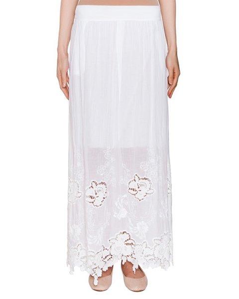 юбка из хлопка с кружевным низом артикул EE26N0 марки European Culture купить за 8700 руб.