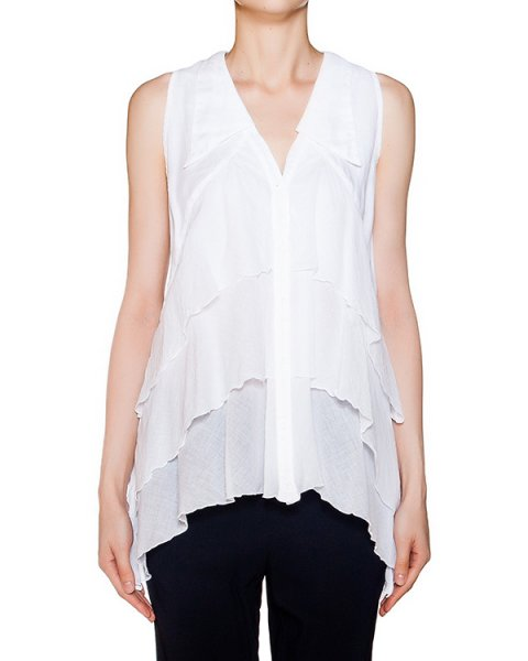 блуза из легкого хлопка с оборками артикул EE681U марки European Culture купить за 5700 руб.