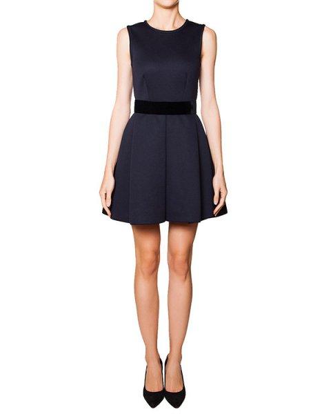 платье приталенного кроя из плотной мягкой ткани с бархатным поясом артикул EMILX720245 марки P.A.R.O.S.H. купить за 12200 руб.