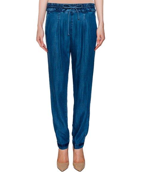 брюки из легкого денима на широком эластичном поясе артикул ER06BA марки European Culture купить за 10200 руб.