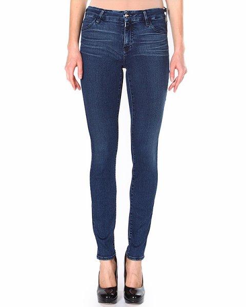 джинсы зауженного кроя, со средней посадкой и пятью карманами артикул F112054S марки Koral купить за 10000 руб.