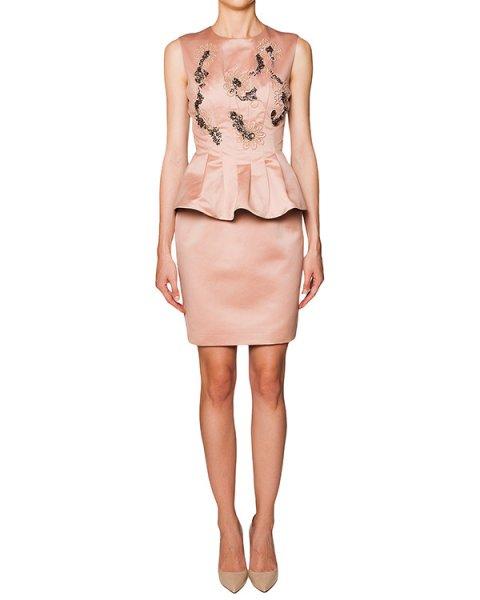платье с баской из плотного гладкого хлопка расшитое бисером и кристаллами артикул F15JAB504RAR марки SI-JAY купить за 22800 руб.