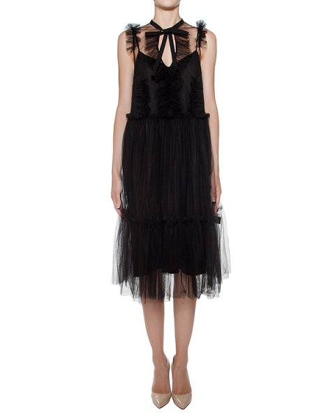 платье из прозрачной ткани с нижним платьем-сорочкой артикул F16MAB453TUL марки Marcobologna купить за 58200 руб.