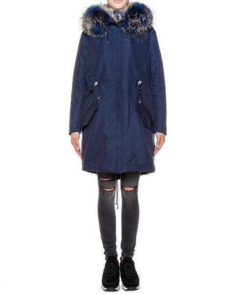парка из плотной ткани, дополнена меховой отделкой артикул FCFW1624 марки Forte Couture купить за 98800 руб.