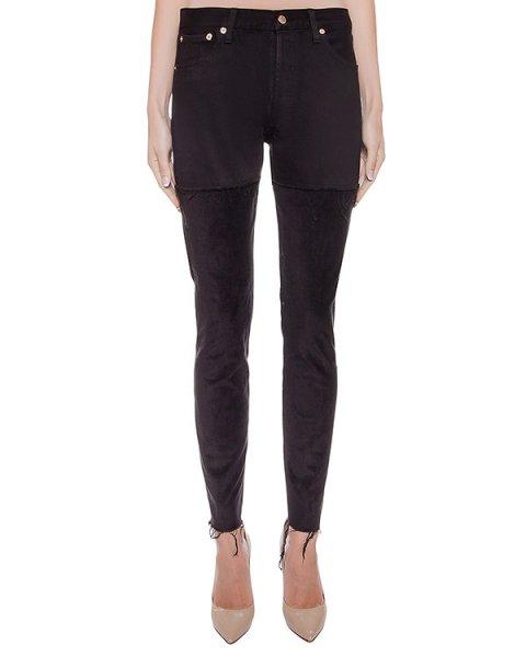 джинсы комбинированные из денима и вельвета артикул FCFW1644 марки Forte Couture купить за 31800 руб.