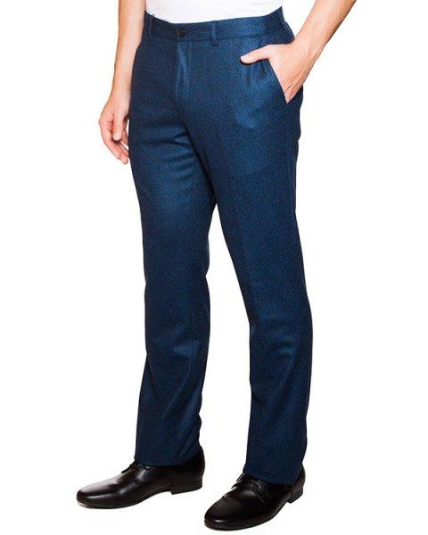 брюки прямого кроя из вирджинской шерсти артикул FW15M326 марки Maison Kitsune купить за 9100 руб.