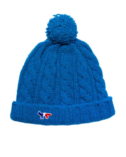 шапка из мягкой шерсти ягнёнка с логотипом бренда артикул FW15U821 марки Maison Kitsune купить за 2700 руб.