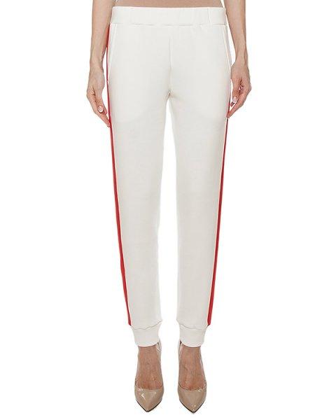 брюки из хлопкового трикотажа с контрастными лампасами артикул FW17714 марки KATЯ DOBRЯKOVA купить за 8300 руб.