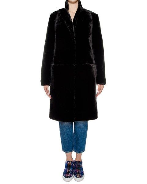 пальто из искусственного меха, на спине украшено вышивкой  артикул FW1780gingershort марки KATЯ DOBRЯKOVA купить за 29800 руб.