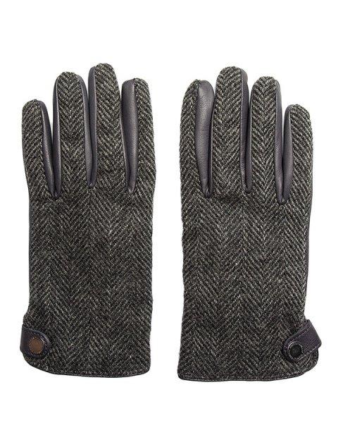 перчатки из твида и кожи артикул G0080 марки Harmont & Blaine купить за 11000 руб.