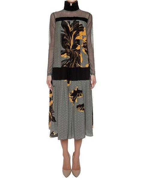 платье легкого шелка с цветочным принтом артикул GF16305F522 марки GRINKO купить за 79600 руб.