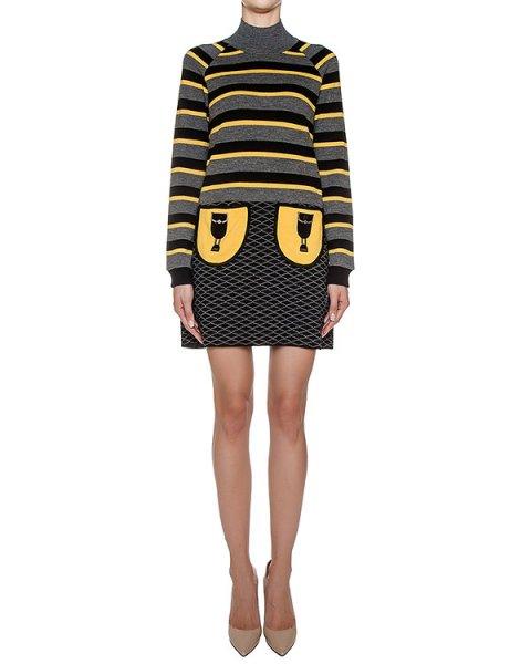 платье из плотного шерстяного трикотажа в полоску артикул GF16310F504 марки GRINKO купить за 8800 руб.