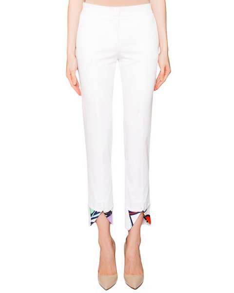 брюки из плотного хлопка с яркими вставками артикул GL3001L07 марки Giles купить за 10100 руб.