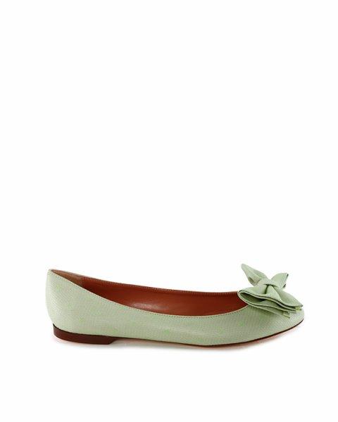 балетки на тонкой подошве с изящным округлым носком артикул GQS00392 марки Valentino Red купить за 8200 руб.