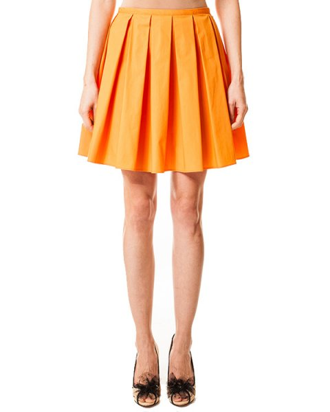юбка насыщенного цвета спелых цитрусовых артикул GR0GN8D0 марки Valentino Red купить за 6800 руб.