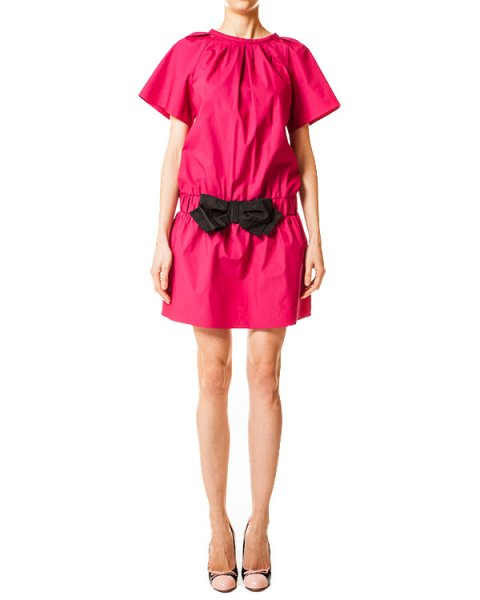 платье с заниженной линией талии и прорезными карманами артикул GR0VS8H5 марки Valentino Red купить за 12600 руб.
