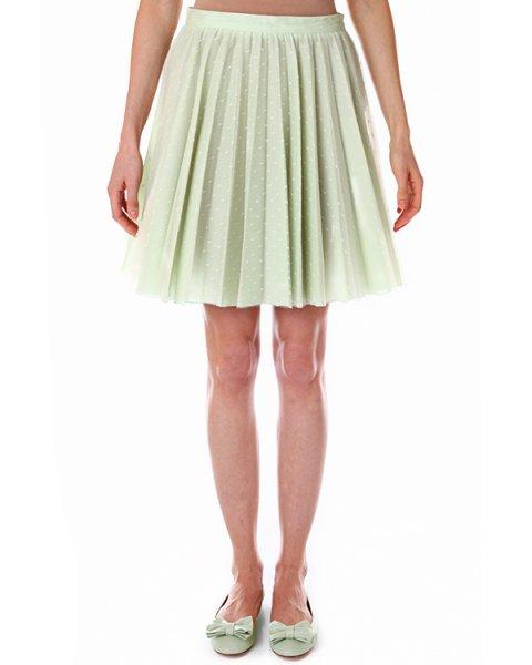 юбка с отделкой из кружева вуального плетения артикул GR3GN450 марки Valentino Red купить за 11900 руб.