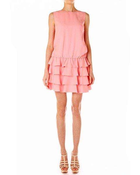 платье с заниженной талией, отороченное рюшами артикул GR3VS410 марки Valentino Red купить за 15200 руб.