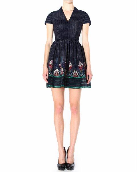 платье приталенное, с пышной юбкой и объемной вышивкой артикул H4ARRO марки Manoush купить за 19500 руб.