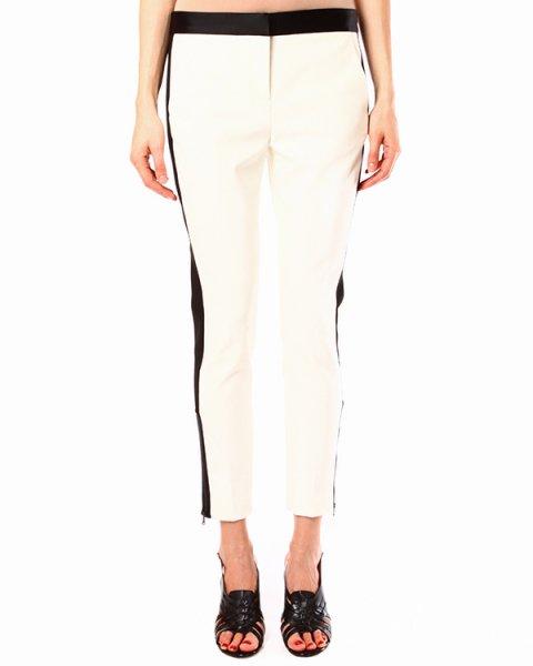 брюки с геометрическим сочетанием черного и белого цветов артикул HANS2604 марки TIBI купить за 9800 руб.