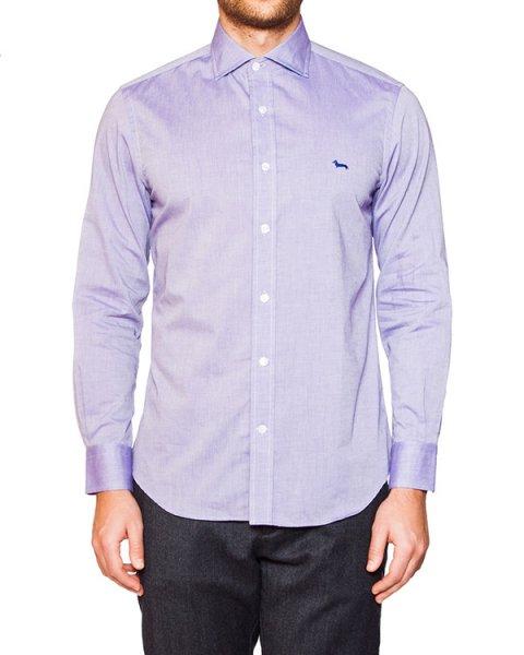 рубашка классического кроя из плотного хлопка артикул HBC0331 марки Harmont & Blaine купить за 4100 руб.