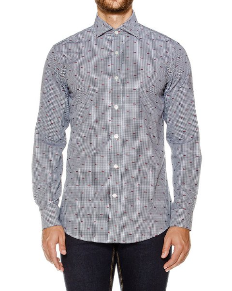 рубашка классического кроя в клетку артикул HBCX0190 марки Harmont & Blaine купить за 14900 руб.