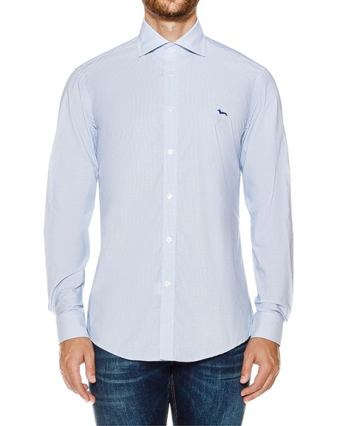 рубашка классического кроя из хлопка артикул HBCX2900 марки Harmont & Blaine купить за 13200 руб.