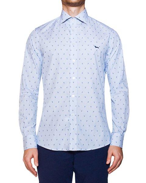 рубашка классического кроя из хлопка с вышивкой артикул HBCX318 марки Harmont & Blaine купить за 9700 руб.