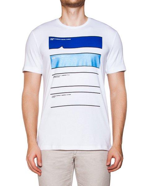 футболка из хлопкового трикотажа с принтом артикул HBI0159 марки Harmont & Blaine купить за 4300 руб.