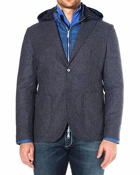 двойка из шерстяного жакета, надетого поверх утепленной куртки артикул HBV0167 марки Harmont & Blaine купить за 26600 руб.