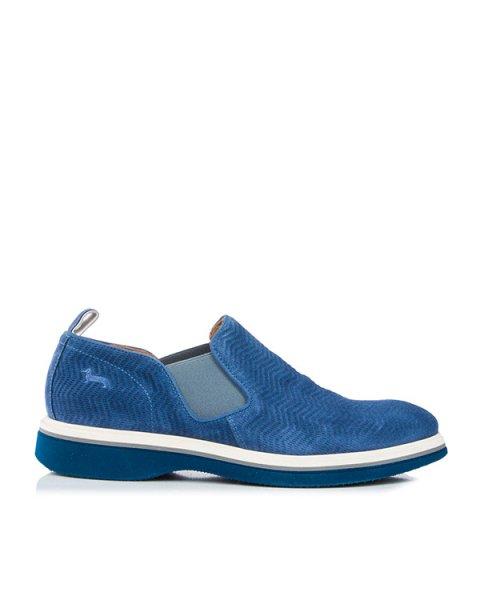 туфли из замши, дополнены эластичными вставками артикул HGE6052 марки Harmont & Blaine купить за 11500 руб.