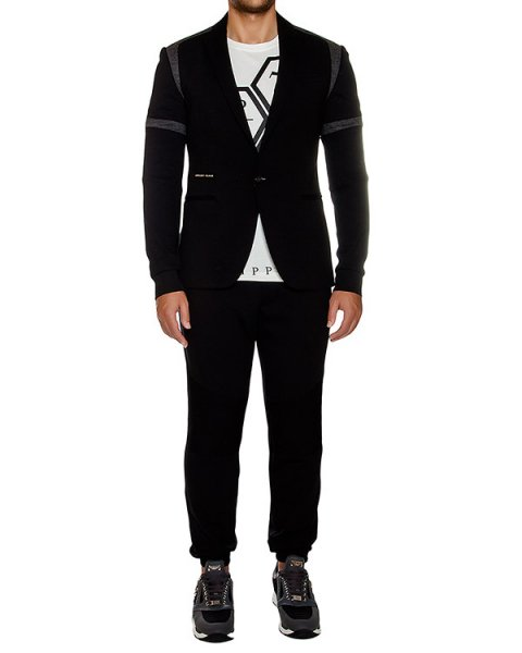 костюм из мягкого трикотажа с контрастными вставками артикул HM191401 марки PHILIPP PLEIN купить за 138800 руб.