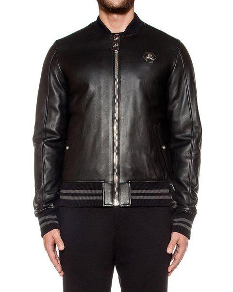 куртка из натуральной кожи артикул HM220331 марки PHILIPP PLEIN купить за 191200 руб.